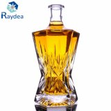 Bottiglia di vino di goffratura con il vetro di silice