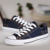 أسلوب كلاسيكيّة [أونيسإكس] [لس-وب] [أنتي-سلب] زرقاء نوع خيش لوح التزلج أحذية