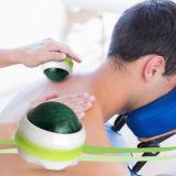 Boules de rouleaux de pression de massage Set de 3 pour soulagement du stress et muscles tendres relaxants