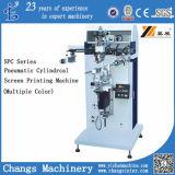 Machine d'impression cylindrique pneumatique d'écran de série de Spc (couleur multiple)