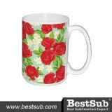 Tazza di ceramica bianca promozionale della foto dalle 15 once di sublimazione di Bestsub (B201)