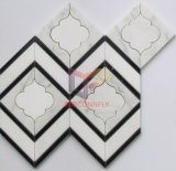 Wand und Floor Used Decoration Water Jet Marble Mosaic (CFW46)