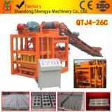 Machine creuse concrète de bloc de vibration semi automatique de moulage de la grande capacité Qtj4-26
