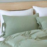 De microfibra lavado sólido estilo de las arrugas edredón nórdico conjunto de ropa de cama