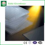 Siembra de láminas de policarbonato duradera con el sistema de bancos de rodadura de efecto invernadero