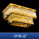 Projet d'hôtel personnalisé de l'éclairage lampe de plafond en acier inoxydable