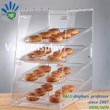 Contro scatola di presentazione acrilica di Transprent per pane/torta/l'alimento/spuntino