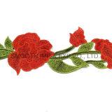 Tessuto multicolore del merletto della zona di Embrodiery del fiore della tessile floreale di modo 3D