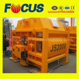 Js2000 el doble de los ejes Hormigonera para planta mezcladora de concreto Hzs120.