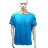 男性の安いのための短い袖が付いている100%とかされた綿のポロシャツ