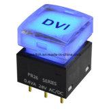可聴周波ビデオ装置50mA/12V DCによって照らされる押しボタンタクタイルスイッチ
