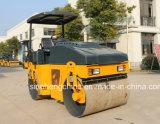 Compacteur hydraulique de rouleau vibrant de tambour de matériel de route double 3 tonnes