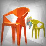Открытый стек пластмассовый стул, белый пластиковый стул