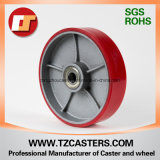 Polyurethan Wheel mit Cast Iron mit Ribs, Pallet Truck Wheel