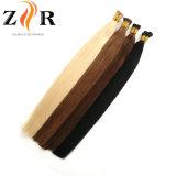 Cabelo de Prebonded do cabelo da queratina do cabelo humano da ponta do varejo Stick/I