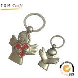 Anello chiave di angelo del metallo bello di figura per il ricordo