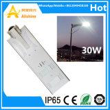 130lumen/Wattsの太陽街灯(SSL-5W-120W)をつける30W統合された屋外LEDの庭