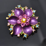 Gold elegante Rhinestone Flower Brooch Bouquet per Decoration #576