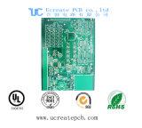 De Oro de inmersión de PCB para el módulo de seguimiento GPS con el verde máscara de soldadura