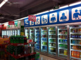GlasDoor Gehen in Display Cooler mit Cer