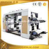4 Farben-Plastikfilm-flexographische Druckmaschinen
