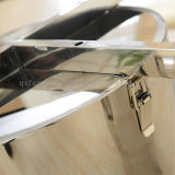 Moderne Marmeren die Eettafel met het Frame van het Roestvrij staal wordt geplaatst