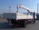 Vrachtwagen van het Ontwerp van Shacman de Nieuwe 4X2 Opgezet met 6 van de Rechte Ton Kraan van het Wapen