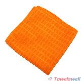 De oranje Geruite Droogdoek van de Keuken Microfiber