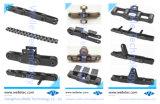 La precisión de tono cortos estándar las cadenas de rodillos del transportador, DIN ISO ANSI, fila Fila doble fila triple