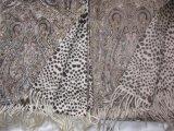Шаль печати шерстей кашемира реверзибельная