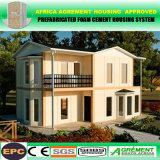 Casa modular portátil para casa de frame de aço pré-fabricada do canteiro de obras