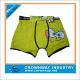 Cotton Spandex Boys Underpants Boxer Shorts / Briefs avec imprimé Cartoon