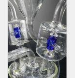 12.6 Zoll-Glasrauch-Gefäß-blaues Filter-Glas-Rohr