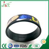 Silicone Customerized Pulseira bracelete de borracha, Fullly Bangle personalizável