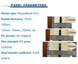 Großhandelspolyurethan-Isolierung Aluminium-PU-Hersteller Isolierzwischenlage-Kühlraum-Panels