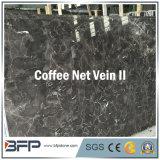 Mattonelle di marmo spesse nette della vena 10mm del caffè per le mattonelle di marmo Polished della parete o il rivestimento per pavimenti