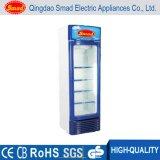 Porta de vidro transparente Refrigeração direta Upright Soft Drink Display Frigorífico Showcase