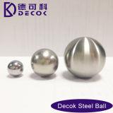 Esfera de aço inoxidável escovado Ornamento de jardim olhando bola