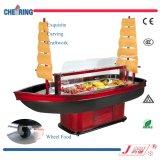 Refrigerador de madera de la barra de ensalada de la barca de lujo H-Cy2350FL4