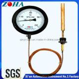 Termômetro de pressão capilar com caixa preta