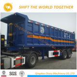 2 dos eixos 35cbm do descarregador da caixa reboque da descarga do reboque do caminhão de reboque Semi para o transporte de pedra