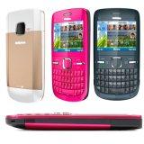 Original para Nokya C3-00 Desbloqueado Teclado Qwerty Bluetooth Bar Telefone Celular