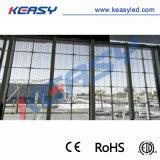 IP 65 à prova de parede de vidro transparente Keasy tela LED de Publicidade