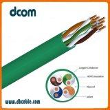 LAN de alta calidad el cable UTP Cat5e de 4 pares 24AWG de cobre puro 100FT con precio competitivo