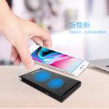 2018 Nuevo diseño plegable Qi Wireless Mobile Phone soporte cargador para iPhone y teléfonos Samsung