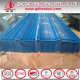Hojas acanaladas galvanizadas color de acero del material para techos del metal de PPGI