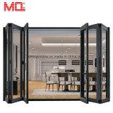 Конструкция двери складчатости Tempered стекла Lowes алюминиевая нутряная