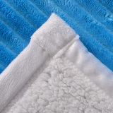 安いポリエステルSherpaのベルベルの羊毛のフランネル毛布