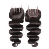 Шнурка природы Remy Hairl девственницы 100% объемной волны реального бразильского шелковистые 3 волос части Toupee женщин