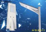 20W LED de control inteligente de calle la luz solar con 5 años de garantía.
